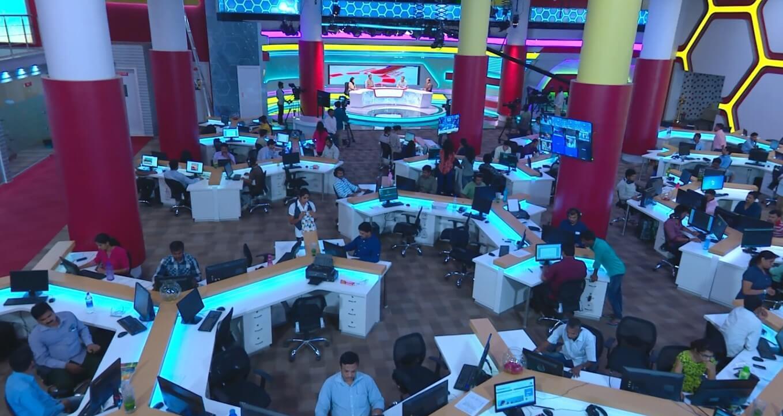 News Desk Shot